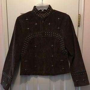 Scully suede leather studded jacket
